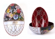 Metalldose im Fabergé- Stil- Flower-Power